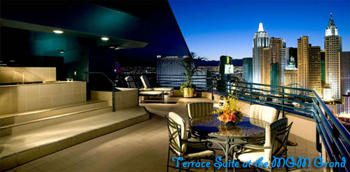 Terrace Bachelor Party Suites